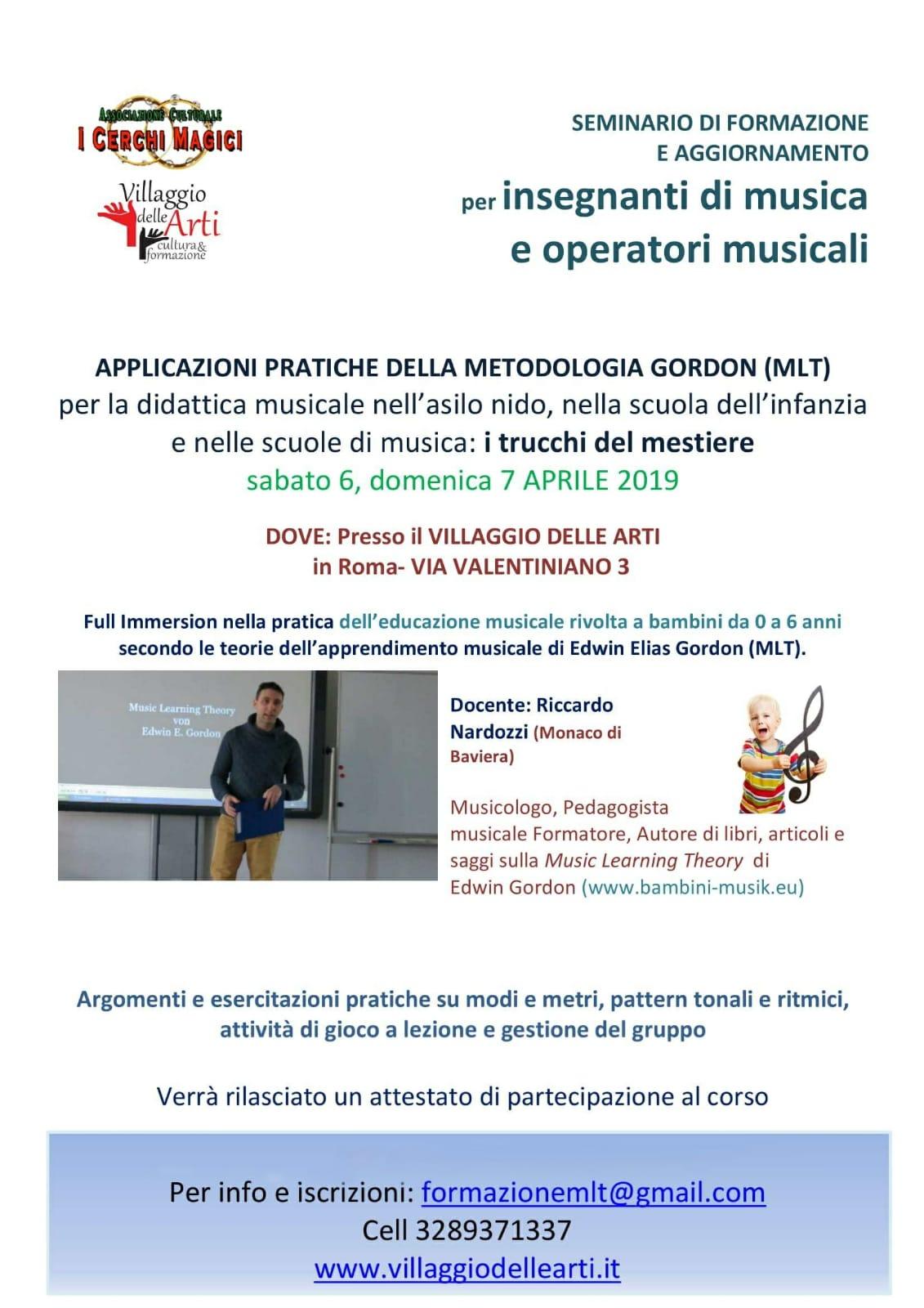 SEMINARIO GORDON MUSICISTI